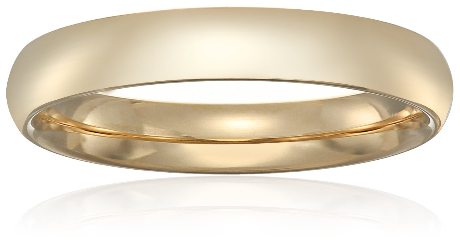 Standard Comfort-Fit 14K Yellow Gold Band, 4mm, Size 10
