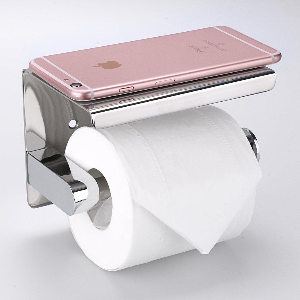 Élégant support à mouchoirs papier toilette de salle de bain Btsky à  fixation murale antirouille 4f11a4afcec3