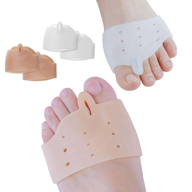 Sumifun Gel Half-Toe Metatarsal Pads Kit- Half Toe Sleeve Pads & Toe Separators & Bunion Corrector for Straighteners splint Aid surgery treatment, Prevent Pain, Calluses and Blisters