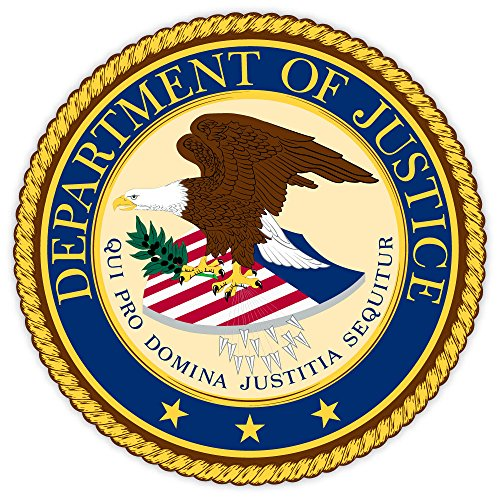 Department of JUSTICE seal USA sticker decal 4