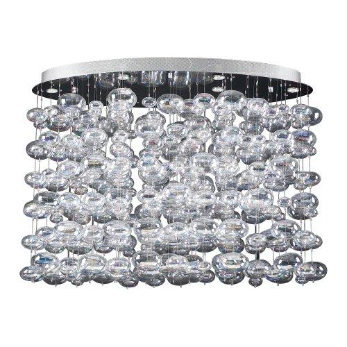 PLC Lighting 96969 PC 6 Light Chandelier Bubbles ()