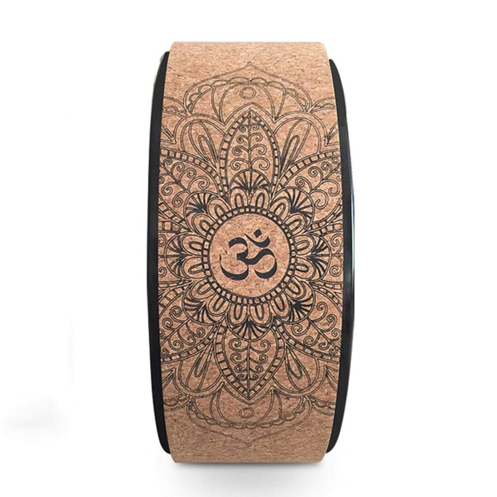 Natural Cork Fitness Wheel Improving Back Bends Stretch Pilates Circle Designed for Dharma Yoga Prop Wheel Pose Yunhigh-uk Yoga Wheel Wood for Stretching