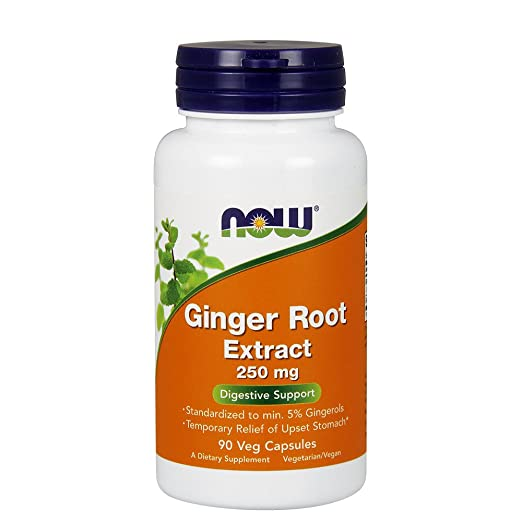 NOW  Ginger Extract 250 mg,90 Veg Capsules