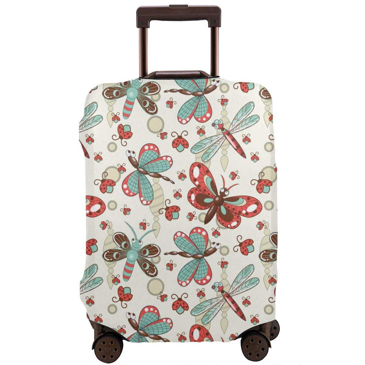4 Size Dragonfly Ladybug Printed Business Luggage Protector Travel Baggage Suitcase Cover