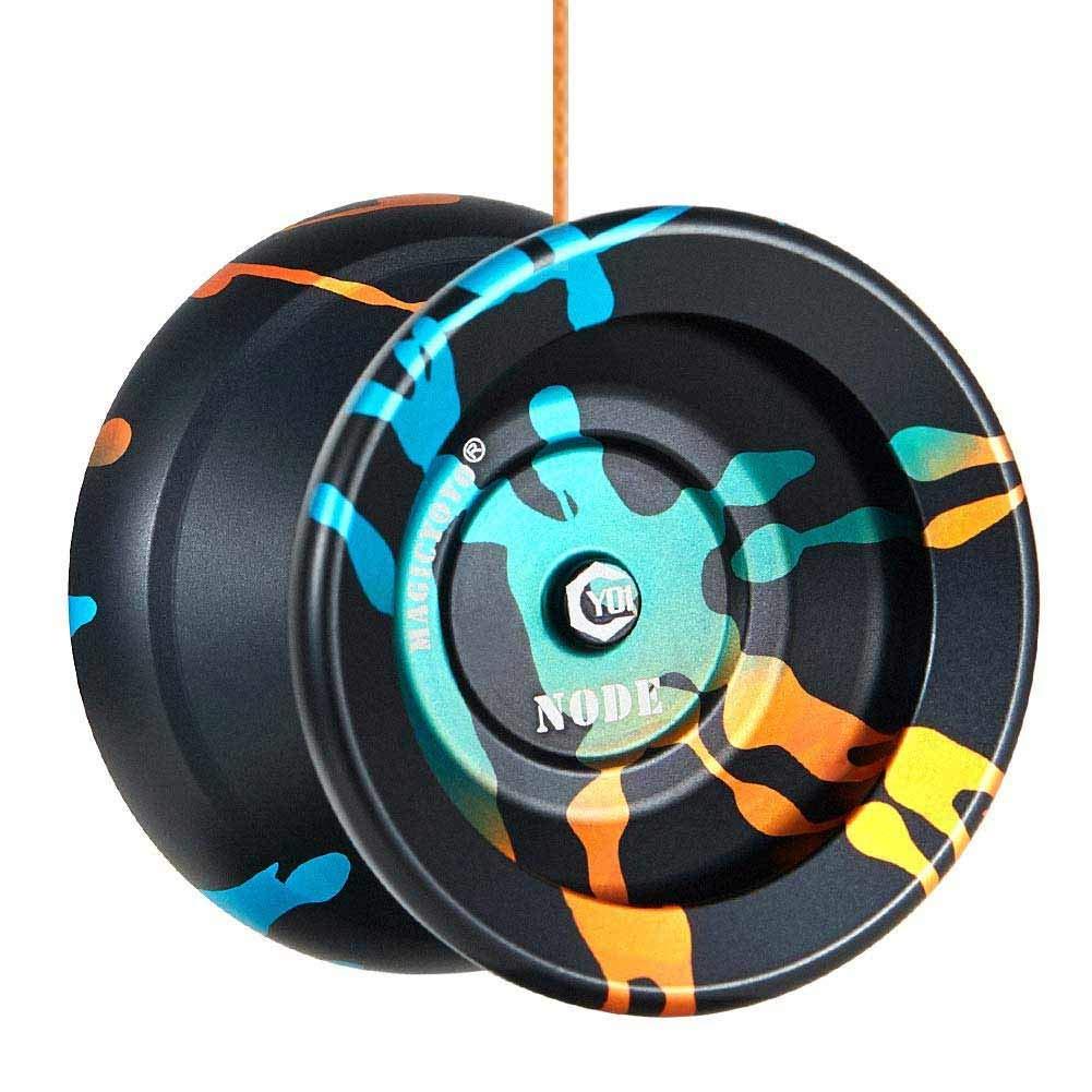 Borsa Yoyo e 5 Corde Yoyo sostitutive Tempo di Rotazione Lungo Metal Yoyo per Bambini /& Giocatore avanzato YOSTAR Yoyo Professionale MAGICYOYO Yoyo insensibile Y01 Node Nero Inoltre