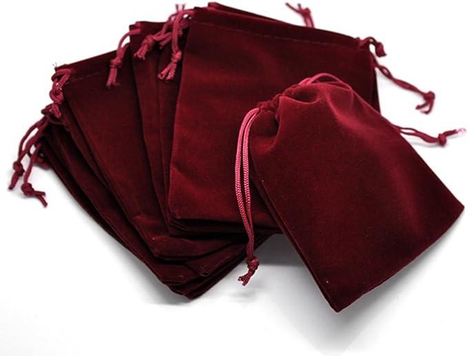 "Black Velvet Drawstring Pouches Jewelry Gift Bags 10pcs,15x5cm Home /"" Kitchen"