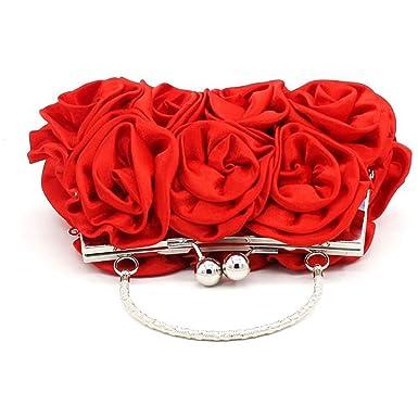 Banketttasche Handtasche Blumenbeutel Braut Brautjungfer Handtasche Mode Exquisite Handgelenktasche,Champagne-OneSize CHENGXIAOXUAN