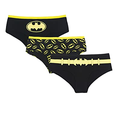 75ce225d57b6 Amazon.com: DC Comics Batgirl Glow in the Dark 3 Pack Hipster Women ...