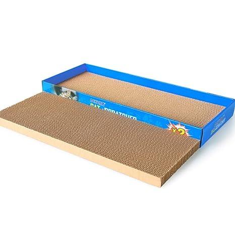 Muodu - Rascador de Gatos de cartón con Caja, cartón Corrugado, Almohadilla para rascar