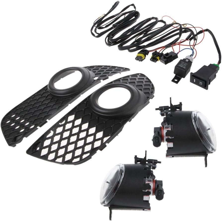 Senoow Sto/ßstangengrill Nebelscheinwerfer Lampe Kabelschalter Kit F/ür Mitsubishi Lancer 08-14