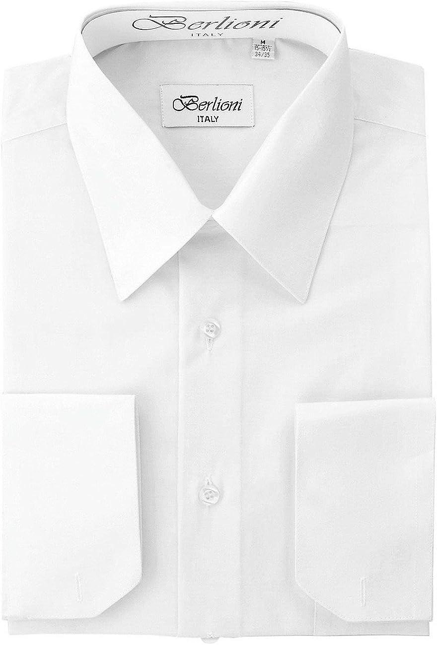 Amanti Men Classic Dress Shirt Convertible Cuff Solid w// Matching Tie Copper
