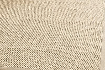 Safavieh Natural Fiber Collection NF141A Tiger Paw Weave Maize and Black Sisal Area Rug (5' x 8')