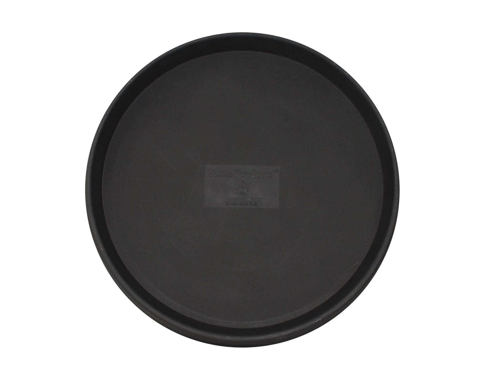Tusco Products TR26BK Round Saucer, 26-Inch Diameter, Black