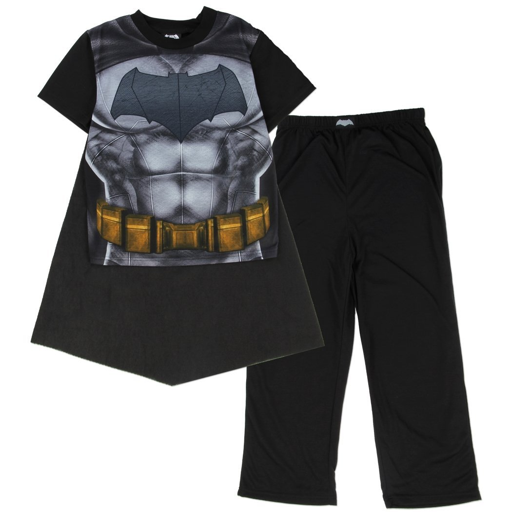 19e5a9983d Amazon.com  DC Comics Superman VS Batman Boys Pajama Removable Cape Set (8