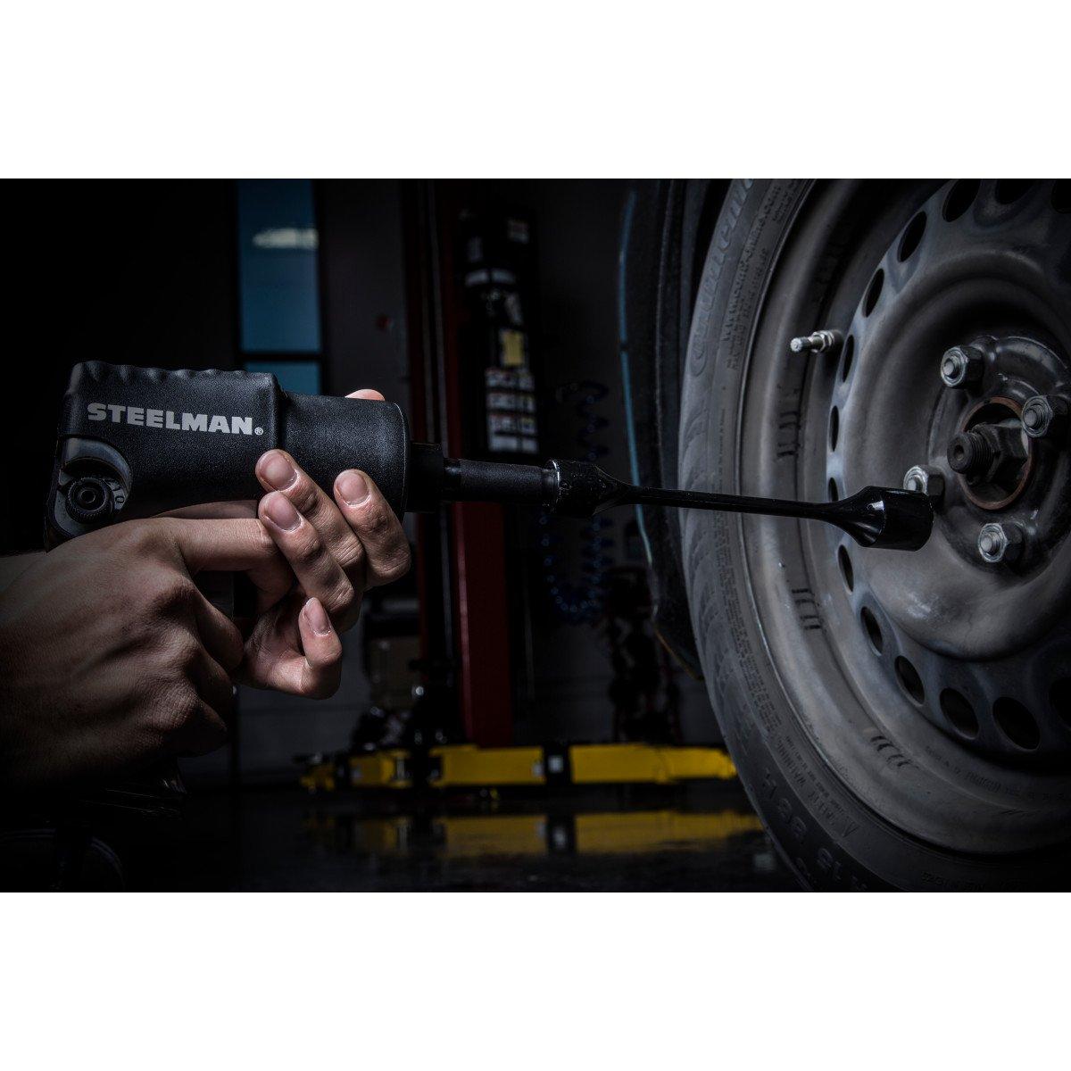Steelman 50065 1//2-Inch Drive x 21mm 60 ft-lb Torque Stick Black