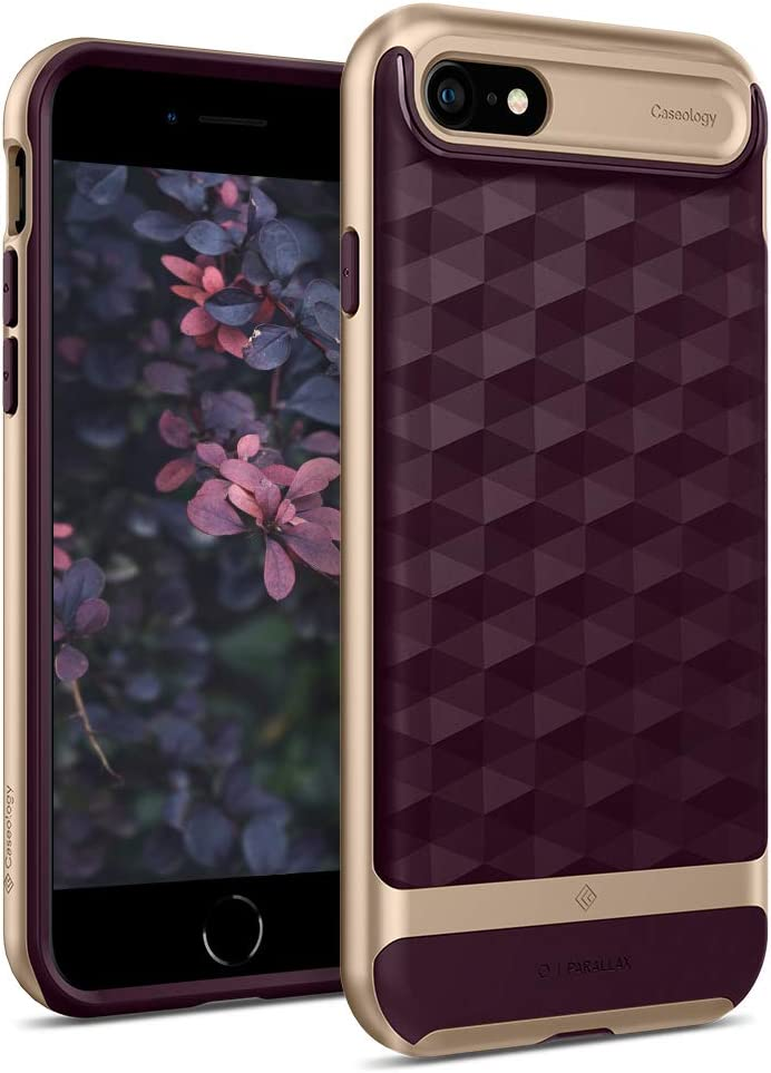 Caseology Parallax for Apple iPhone SE 2020 Case 4.7 inch for iPhone 8 (2017) for iPhone 7 (2016) - Burgundy