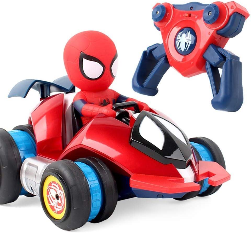 MODELTRONIC Coche RC superhéroes de Spiderman Giratorio Drifting Stunt Car 360º Marvel Oficial 2.4Ghz antivuelco M033