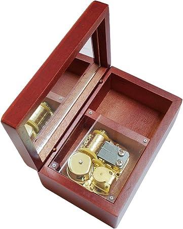FnLy Caja Musical de Madera con 18 Notas, Caja de música con diseño de Lalaland, tamaño pequeño, Color marrón: Amazon.es: Hogar