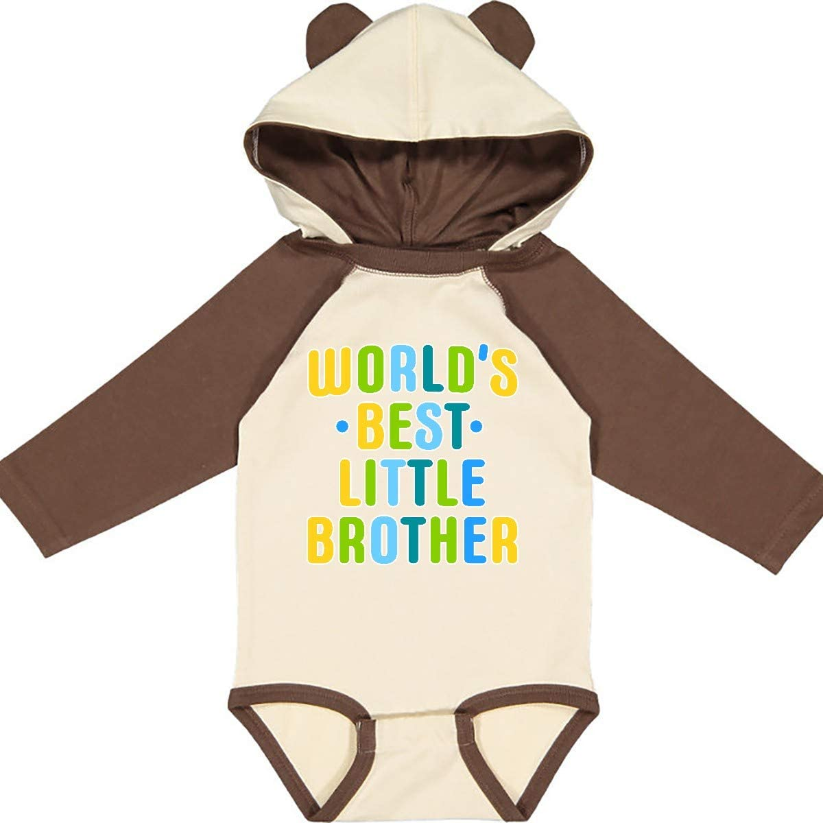 inktastic Worlds Best Little Brother Long Sleeve Creeper