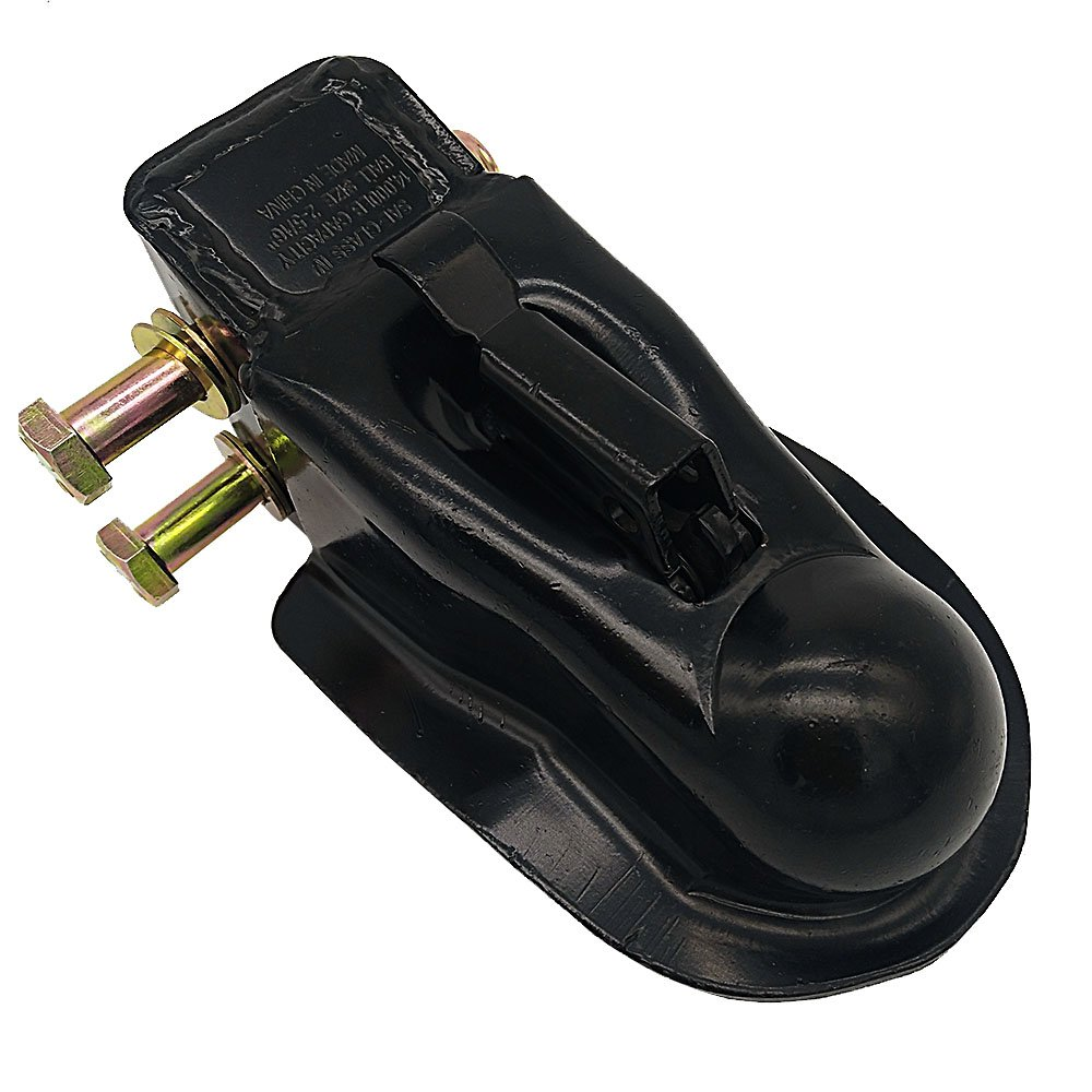NBJINGYI 2-5//16 IN Adjustable Trailer Coupler,14000LBS Capacity,Black Powder Coat