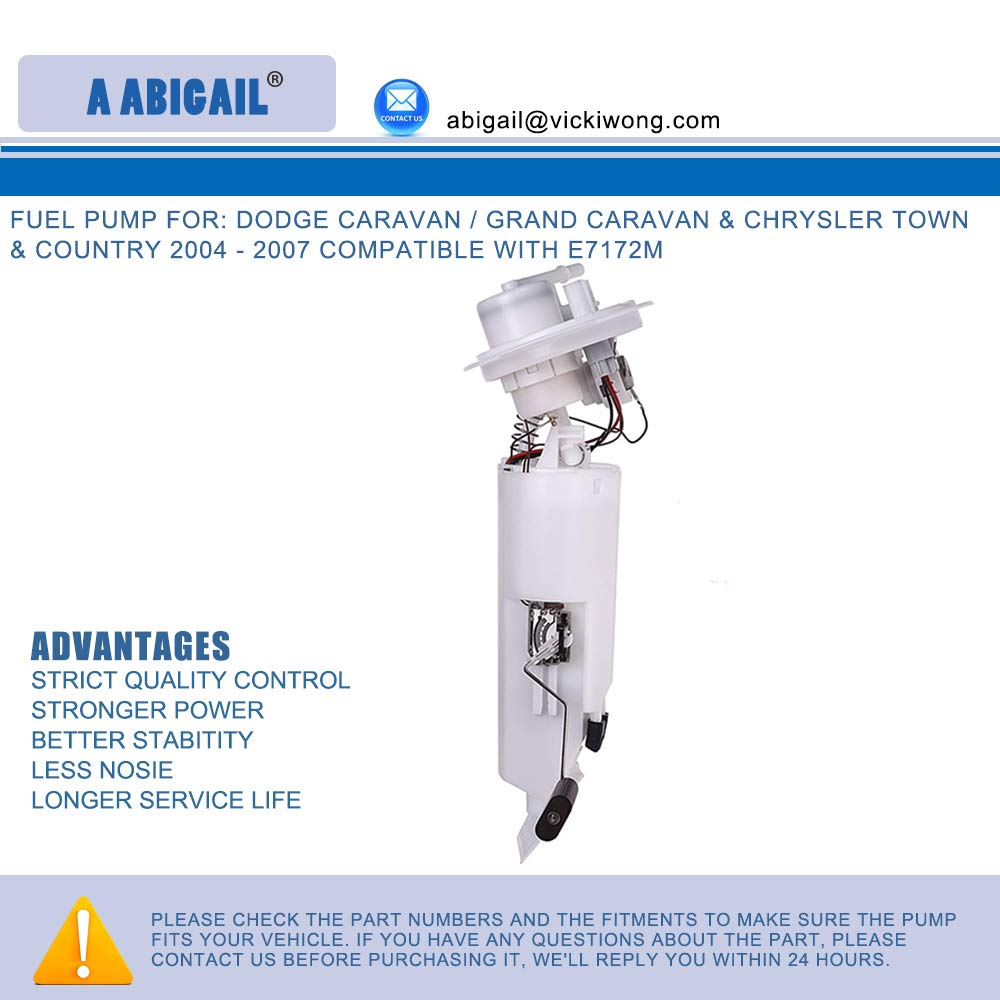 Amazon.com: Fuel Pump A7172M for: dodge caravan / grand caravan & chrysler town & country 2004 - 2007 compatible with e7172m: Automotive