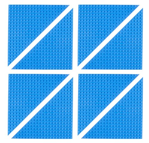 "Free Premium Blue 6"" x 6"" Triangle Stackable Baseplate 8 Pack - Compatible with All Major Brands"