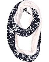 HUE21 Double Side Snowflake Knit Infinity Scarf
