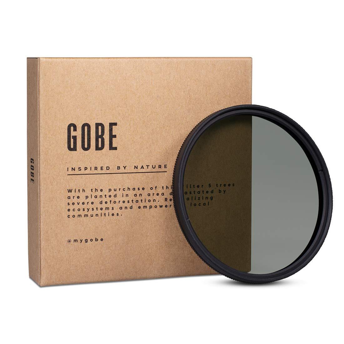 Gobe - Filtro polarizador CPL 49mm Vidrio Alemá n Schott, con Recubrimiento mú ltiple de 16 Capas con Recubrimiento múltiple de 16 Capas G49CPL3P