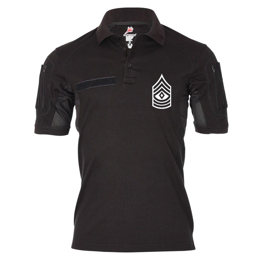 Tactical Poloshirt Alfa - First Sergeant U.S Air Force Dienstgrad Amerika Offizier Emblem  19040, Größe:L, Farbe:Schwarz