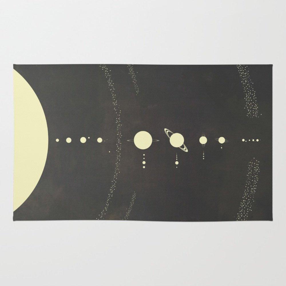 Society6 Solar System Rug 4' x 6'