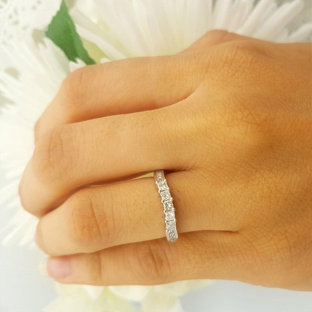 Dazzlingrock Collection 0.30 Carat 14k Round Diamond Ladies Anniversary Wedding Band Stackable Ring 1//3 CT ctw White Gold