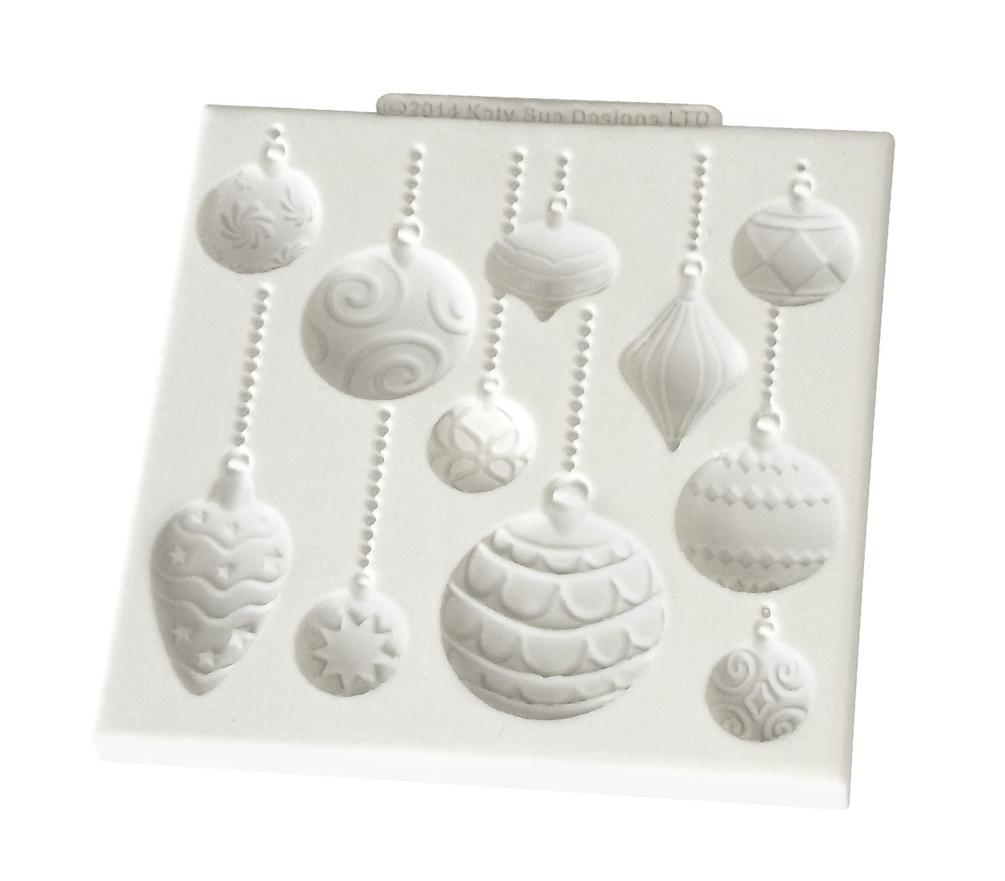 Christmas Baubles Katy Sue Designs Silicone Mould for Cake Decorating Cupcakes Sugarcraft Candies