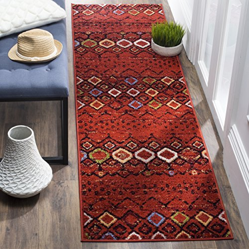 "Safavieh Amsterdam Collection AMS108D Southwestern Bohemian Terracotta and Multi Runner (2'3"" x 8')"