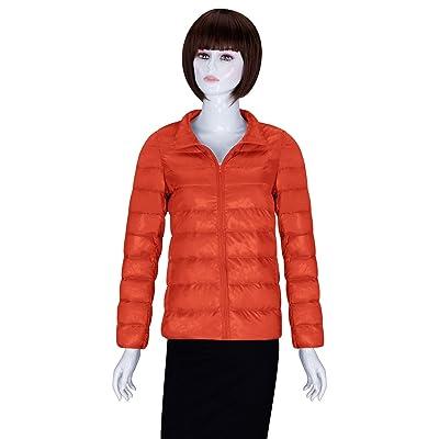 ADAMARIS Coats For Women Winter Sale Stand Collar Short Packable Ultra Light Weight Jackets Outwear
