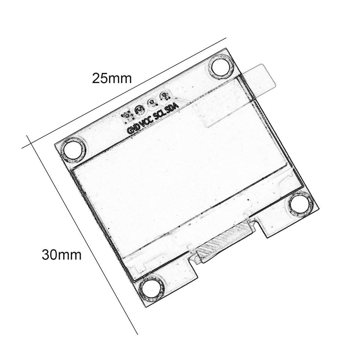 1 3 Zoll 4 Pin I2c Iic Serien 128x64 Oled Lcd Led Sh1106 Wiringpi Spi Clock Produktbeschreibungen