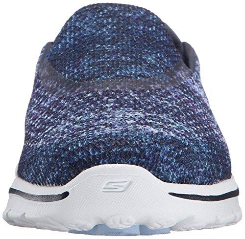 Skechers Azul Mujer Zapatillas 3 Go Glisten Walk Nvw grwO8qg