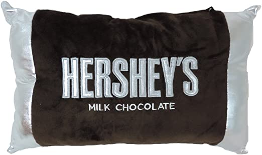 Neck Roll Officially Licensed Hershey Bar Embroidered Plush Travel Pillow