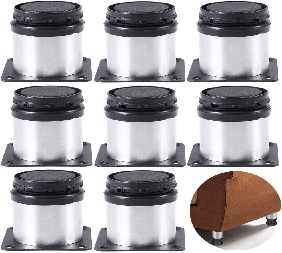 8 Piezas Xinlie Gabinete Patas Pies de cocina Encimera Pata de Cocina Patas para Muebles Inoxidable Cocina Patas Regulables Patas para Muebles Altura Regulable Armario de Cocina Pies Redondo