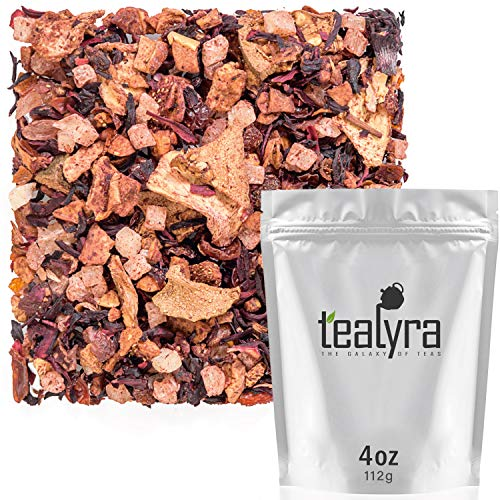 Tealyra - Aloha Hawaii - Pineapple - Hibiscus - Guava - Strawberry - Herbal Fruity Loose Leaf Tea - Hot or Iced - Caffeine Free - 112g (4-ounce)