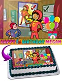 WordGirl Edible Image Cake Topper Personalized Icing Sugar Paper A4 Sheet Edible Frosting Photo Cake 1/4 ~ Best Quality Edible Image for cake