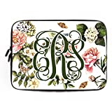 Personalized Laptop Sleeve 13 13.3 Inch Lily Flower Netbook Envelope Carrying Protector Cover Sleeve Girls Computer Sleeve Neoprene Floral Computer Case Cover Laptop Case Dell
