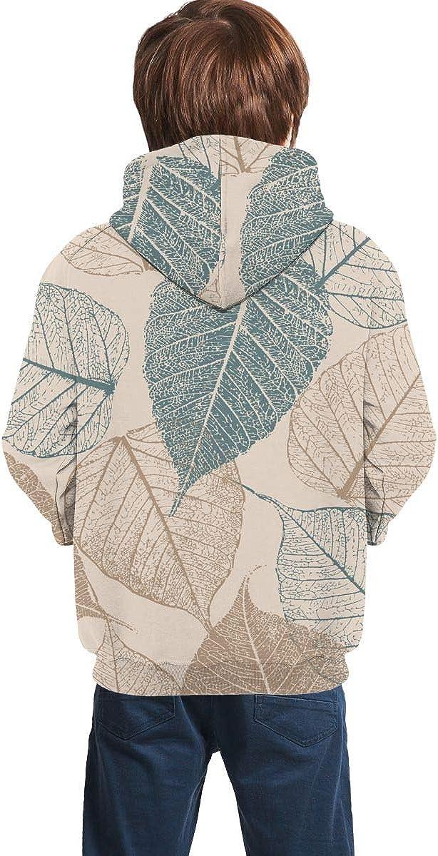 Leafs Men 3D Print Pullover Hoodie Sweatshirt with Front Pocket
