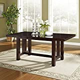 WE Furniture 72″ Solid Wood Cappuccino Dining Table Review