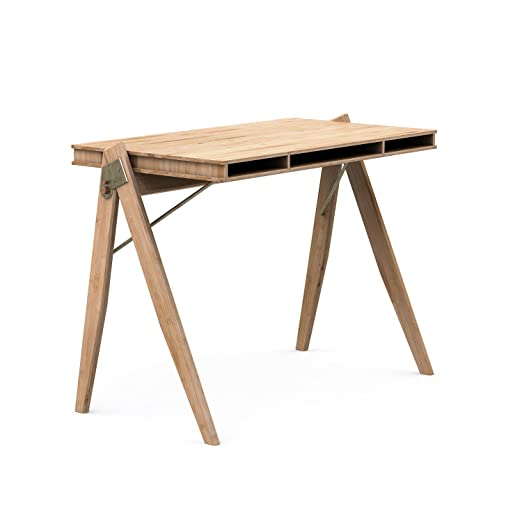 We Do Wood Field Bureau Desk Bamboe hout - Cojín de bambú ...