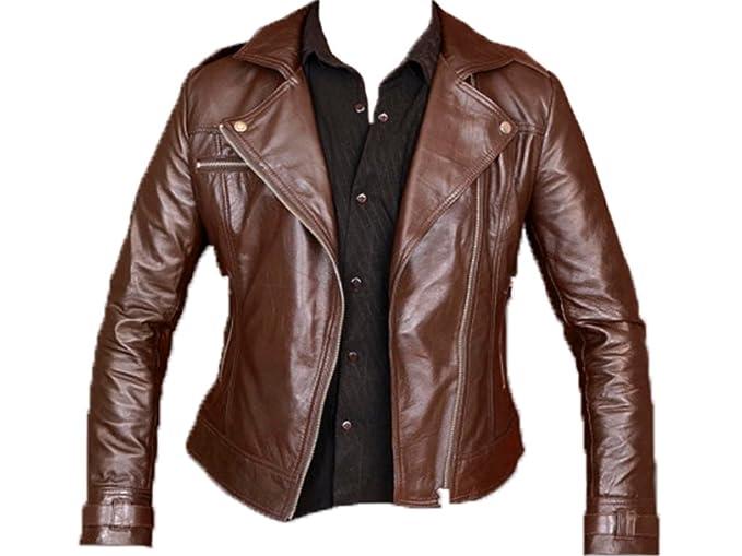 Az última diseño de chaqueta de piel en negro o marrón color ...