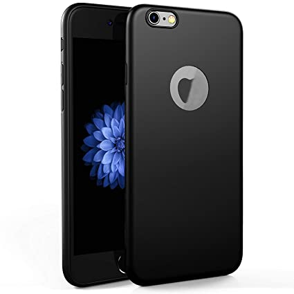 check out 16f20 e47d7 Egotude Soft Silicone Slim Back Cover Cases for Apple iPhone 6S & iPhone 6  (Black)