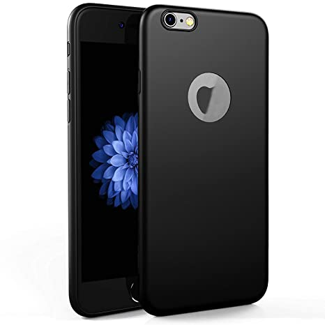 check out 14dfc 9b083 Egotude Soft Silicone Slim Back Cover Cases for Apple iPhone 6S & iPhone 6  (Black)