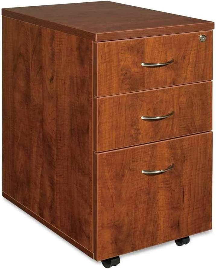 Lorell Mobile Pedestal, Box/Box/File, 16 by 22 by 28-1/4-Inch, Cherry