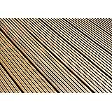 Listoni pavimentazione esterni in Bangkirai, 7 scanalature, profili combinati, 25 x 145 mm, lunghezza 3,05 m