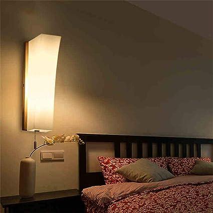 Amazon.com: CWJ Lamp Wall Lamp Decorative Lights Bedroom Aisle Korean  Simple Japanese Style Wall Aisle Lights Led Creative Wood Wooden Household  Light: ...